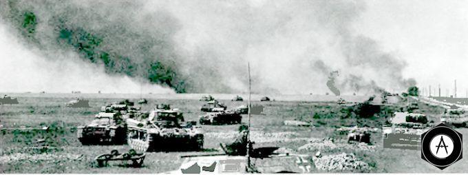 наступают немецкие танки