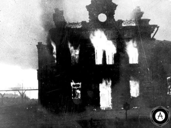 Сталинград горит