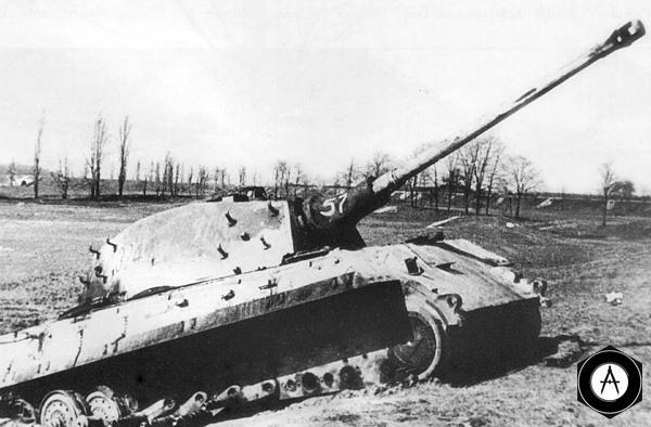 подрыв на мине Королеского тигра
