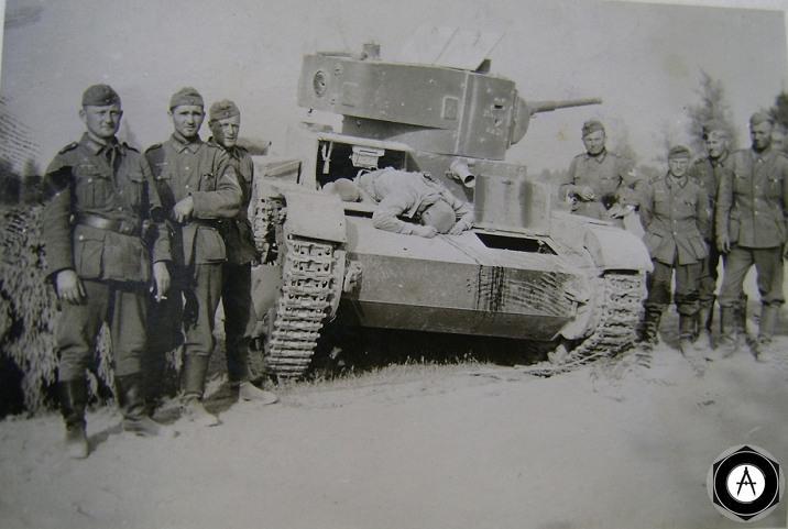 Т-26 недалеко от д
