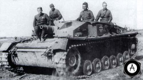 трофейный StuG III