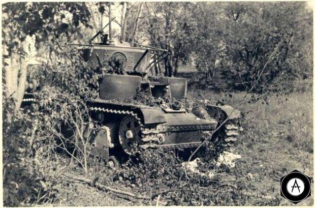 разбитый Т-28 1941г