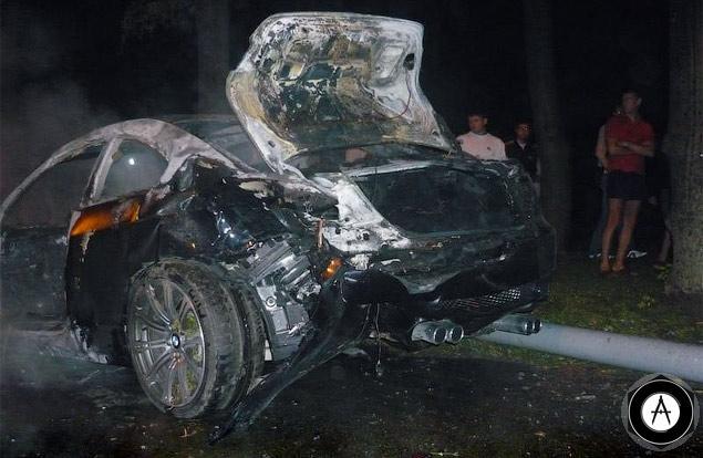 авария с участием BMW M3 и Audi RS6