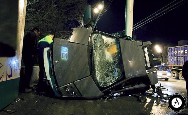 Московская авария с участием Lamborghini