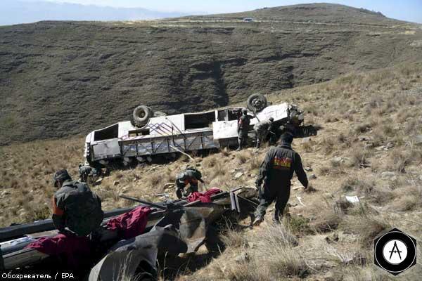 В Китае столкнулись грузовик и автобус