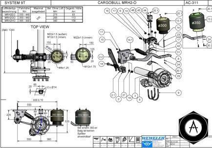Схема подвески Schmitz MRH2-O