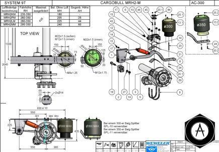 Схема подвески Schmitz MRH2-M
