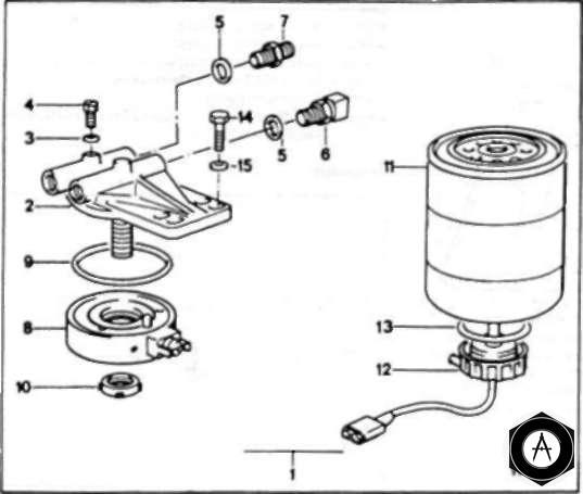 Система подогрева топливного фильтра