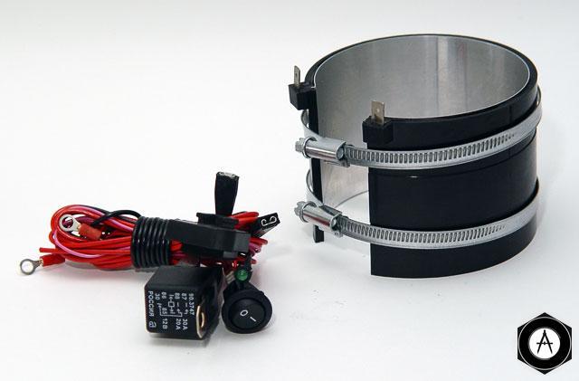 Подогреватель топливных фильтров дизеля бандажного типа