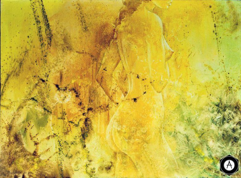 Поворот налево жёлтый