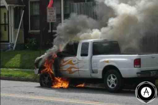 Irony в пламени горящий