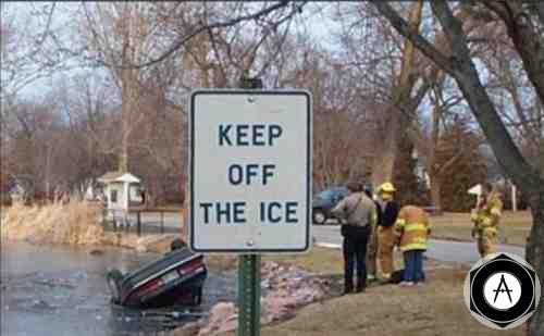 Keep Off The Ice проверка льда