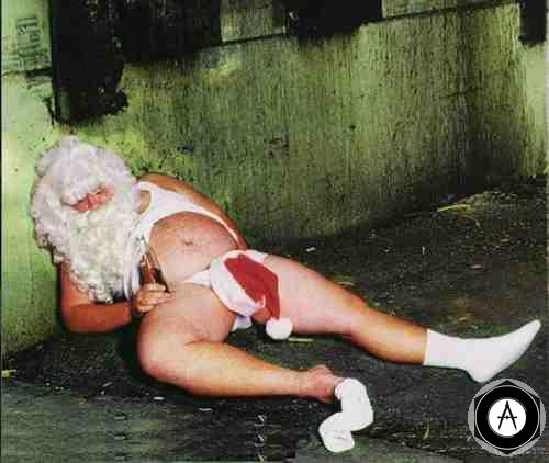 Santa Takes Time Off