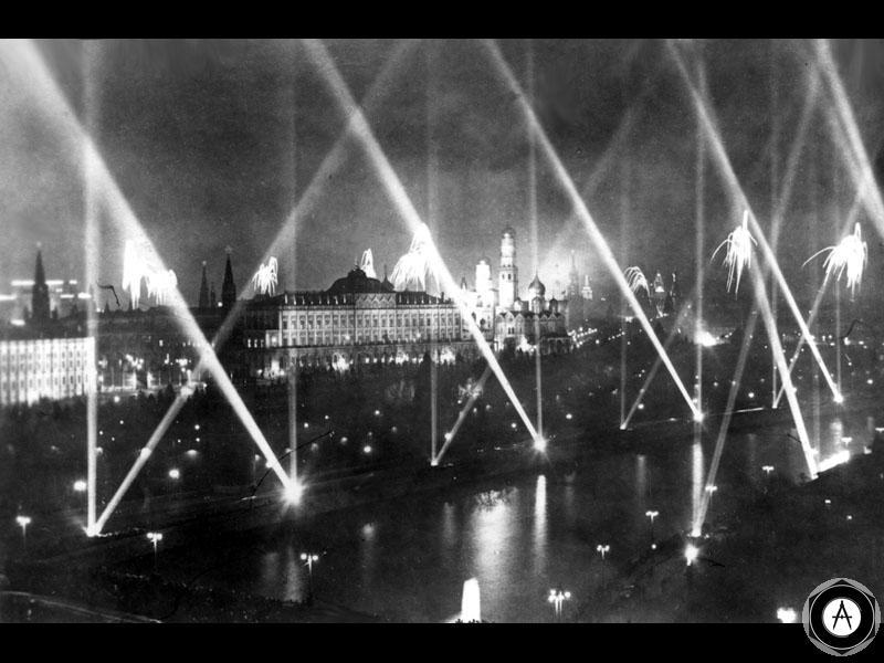 1945 июнь иллюминация празднования Победы в Москве