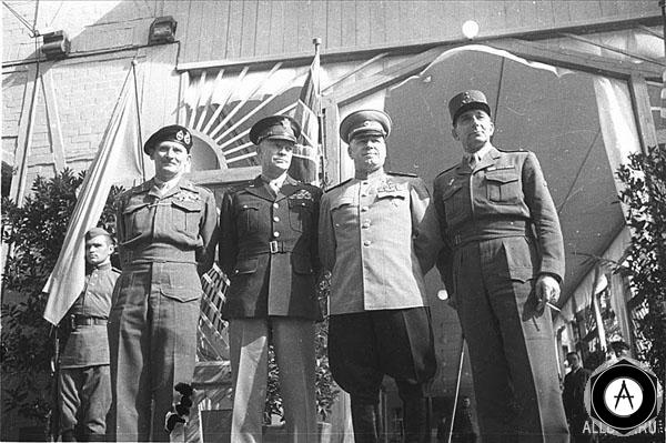 Монтгомери, Эйзенхауэр, Жуков, де Голль
