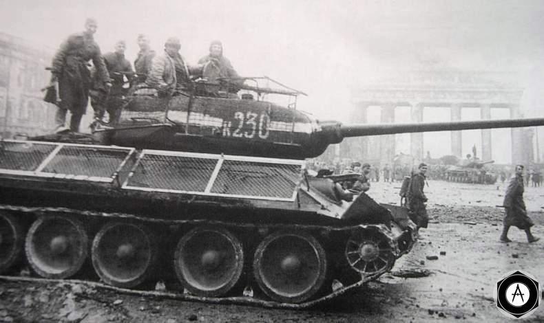 экранированный Т-34-85 Берлин 1945