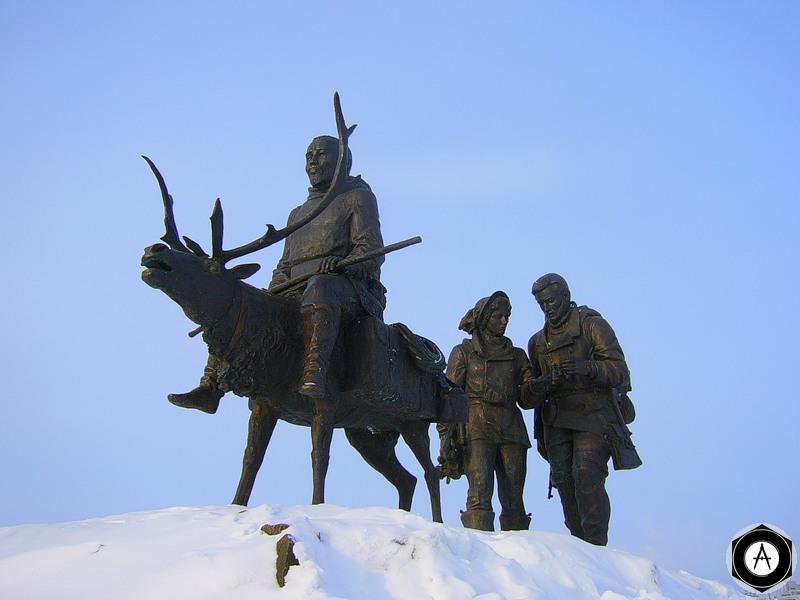 Мирный Каюр и геологи  Саха - Якутия