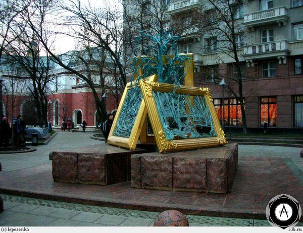 Москва Памятник 150-летию Третьяковской Галереи