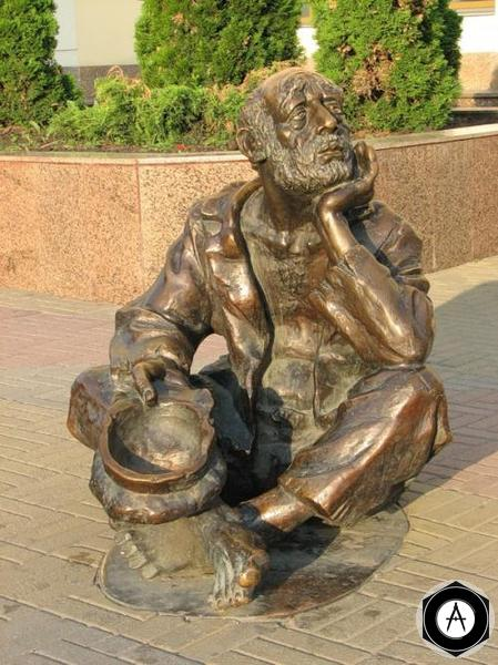 Челябинск Памятник профессиональному нищему