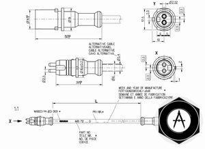 Кабель датчика АБС 3м