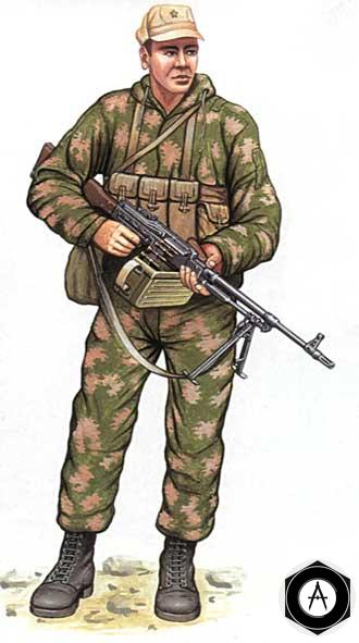 пулемётчик ПКМ Афганистан разведчик