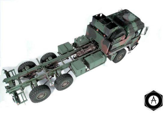 MAN 28.360 6x6 шасси с кабиной среднее расположение моторного отсека