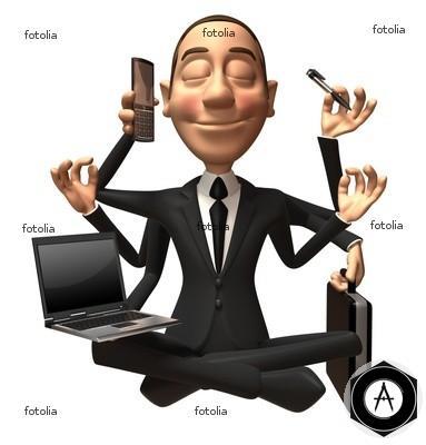 бизнесмен - современный будда