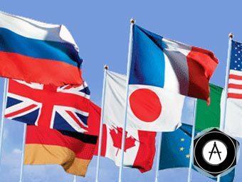 флаги стран большой восьмёрки