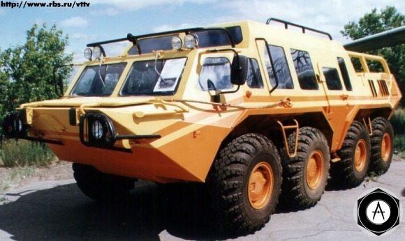 внедорожный автобус ГАЗ-59037А - пассажирская конверсия БТР-80