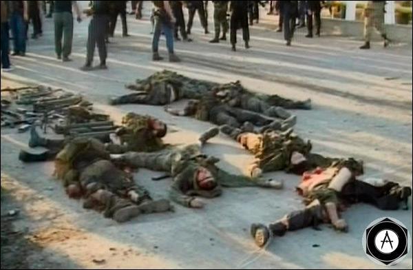 Тела напавших на село Центорой боевиков