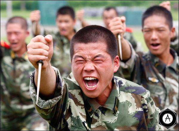 Учения китайских военных