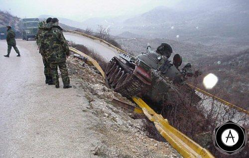 Т-55 завис Сербия