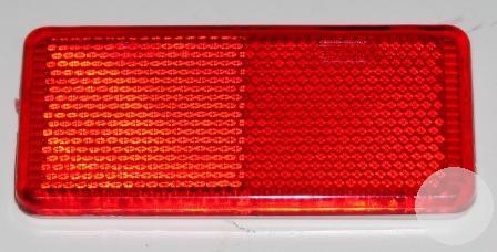 YP19R Катафот на липучке КРАСНЫЙ прямоугольный 95х45