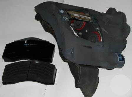 3080005501 Суппорт левый SK7 в сборе SAF (3080005500)