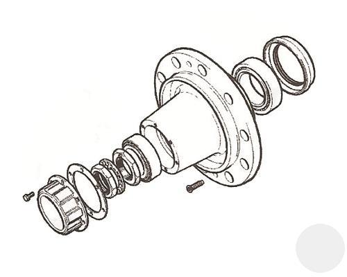 14224262 Ступица дискового тормоза ROR ТМ