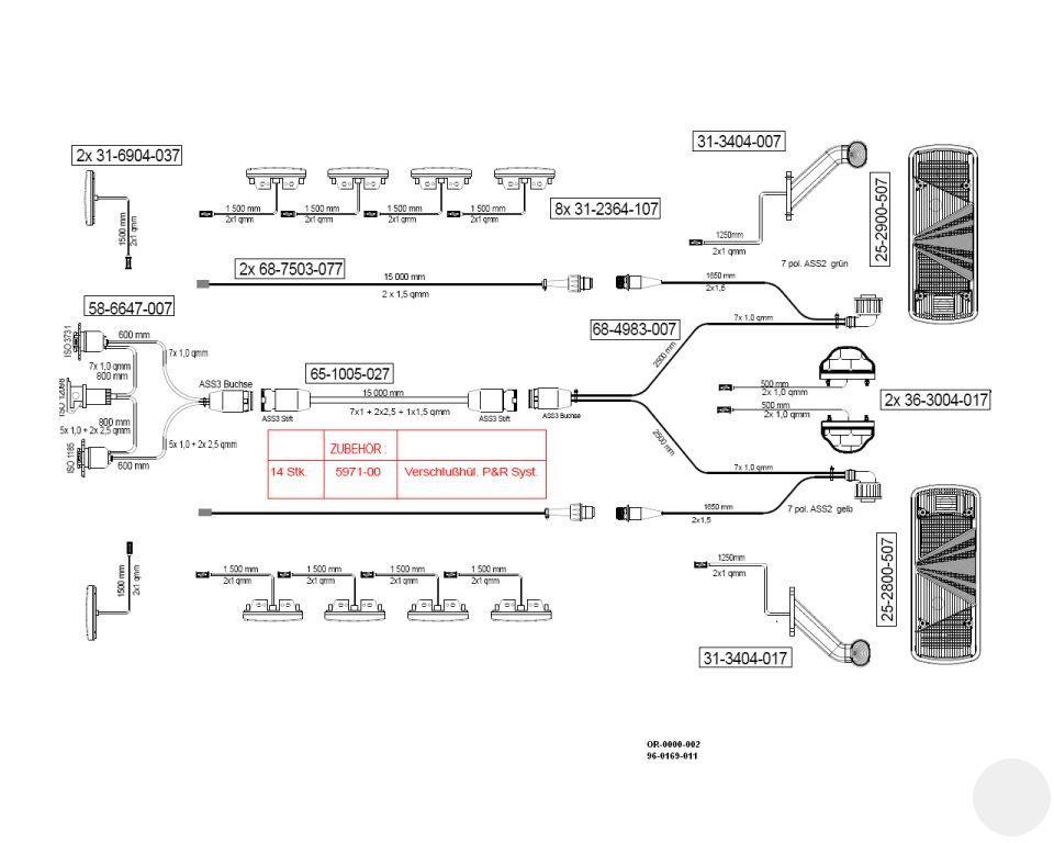 960169011 Комплект электрики полуприцепа UNIVERSAL I