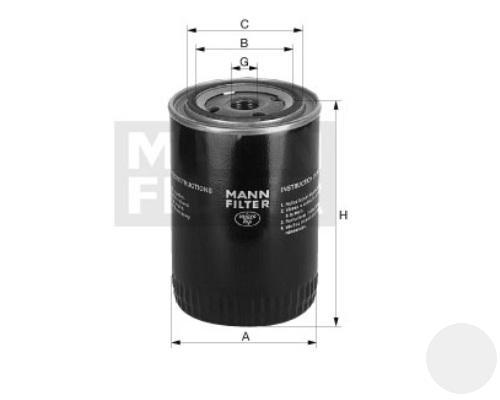 W12102 Фильтр масляный