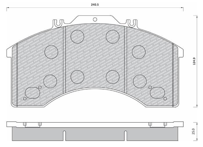 29011 Кмт колодок дискового тормоза
