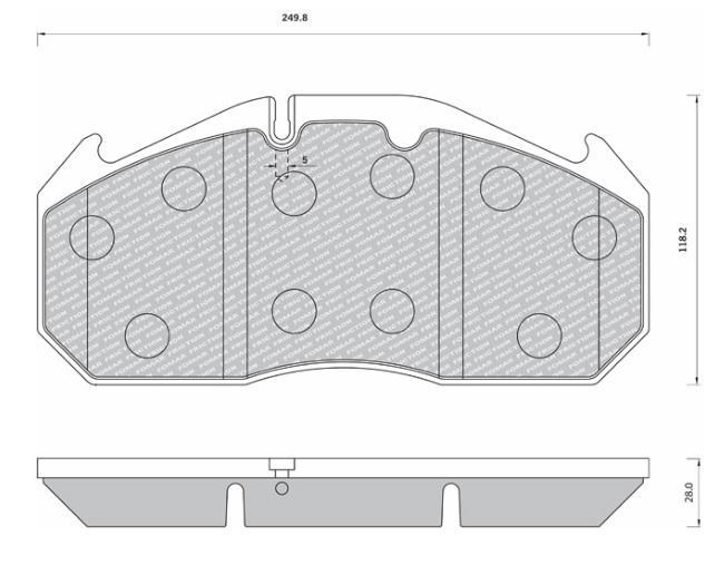 29030 Кмт колодок дискового тормоза