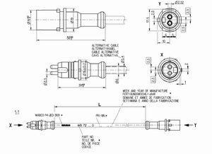 4497120230 Кабель удленнитель датчика ABS 2300mm