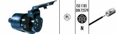 00585190 Розетка основная N Tip 24В7 ISO 1185