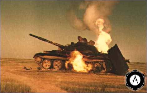 Иракский танк Т-62, подбитый под Абаданом