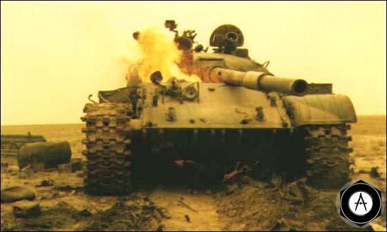 Иракский танк Т-62, подбитый под Ахвазом