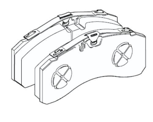 29246 Кмт передних тормозных колодок суппорта Knorr SM7 Actros MP III
