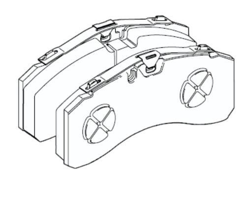 29244 Кмт задних тормозных колодок Knorr SL7 Actro