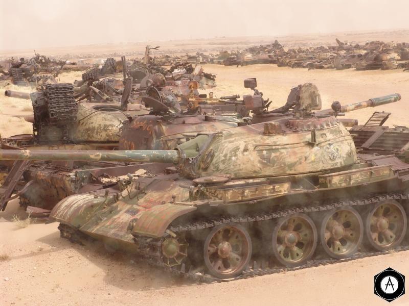 кладбище танков Т-55 Ирак