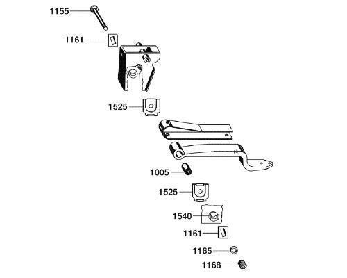 0980107190 Рмк крепления полурессоры BPW Lite 30mm