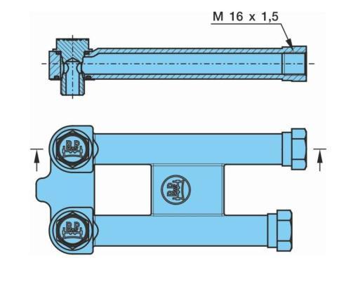 0500100060 Кронштейн удлиннитель сдвоенной трубки энергоаккумулятора