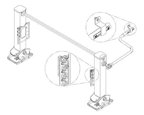 L500S7502 Опорно-подъёмное устройство , ЛАПЫ 12-25t