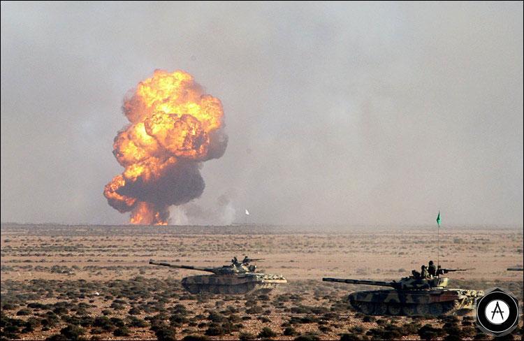 Ливийские Т-72 на учениях, 03